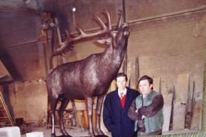 Ciervo Museo S.C.I Tuchson con Ricardo Meden